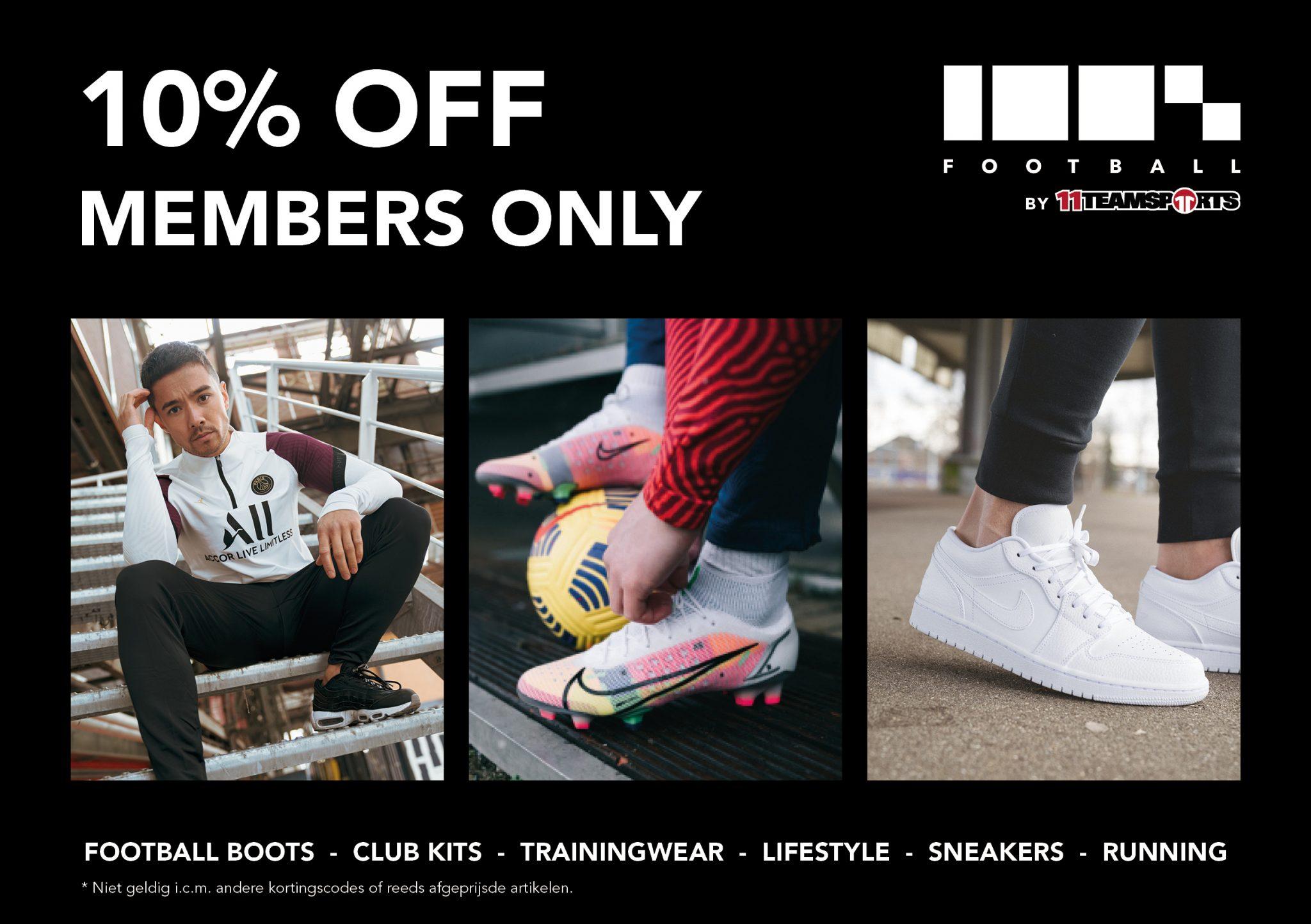 Korting scoren op jouw voetbalschoenen, kleding en lifestyle!