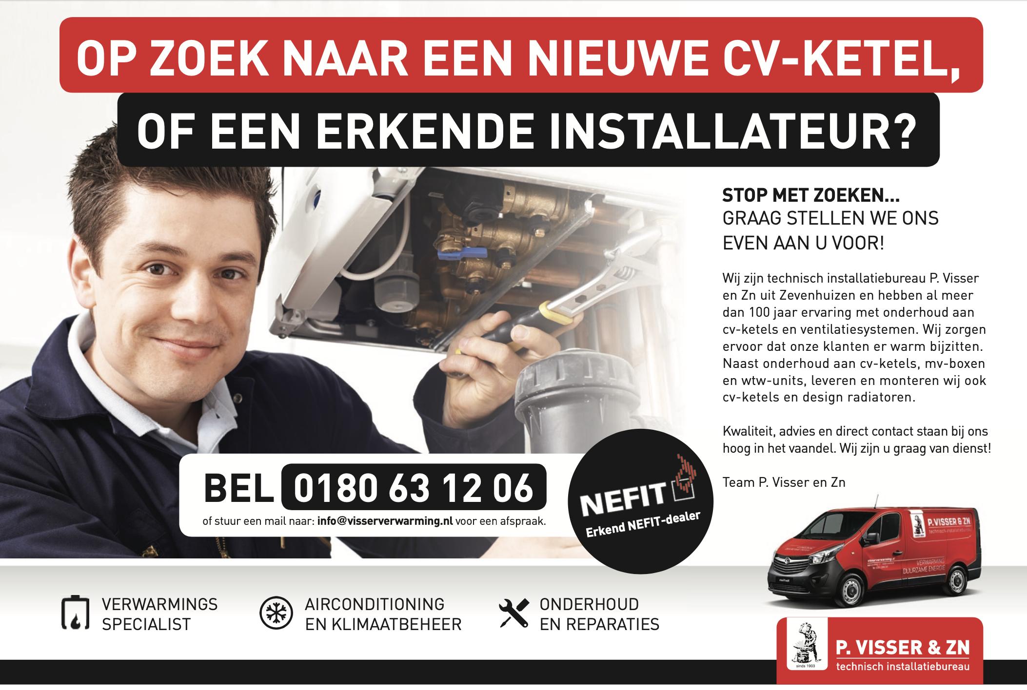 Sponsor uitgelicht: Technisch installatiebureau P. Visser en Zn